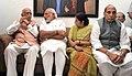 The Prime Minister, Shri Narendra Modi visited the residence of Shri L.K. Advani and paid tributes to late Smt. Kamla Advani, in New Delhi.jpg