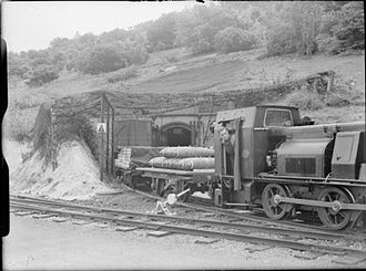 Royal Naval Armaments Depot - Entrance to one of the underground magazines at Dean Hill in the early 1940s.