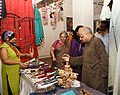 "The Secretary, Ministry of Tribal Affairs, Shri Deepak Khandekar visiting after inaugurating the ""Aadi Mahotsav"" a window to tribal commerce - an exhibition to showcase tribal handicrafts for sale made by artisans invited (1).JPG"