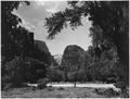 The Temple of Sinawava. Great White Throne and Angel Landing in distance. - NARA - 520349.tif