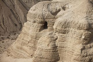 The cave of Qumran place of the Dead Sea Scrolls
