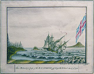 HMS <i>Sirius</i> (1786) flagship of the First Fleet