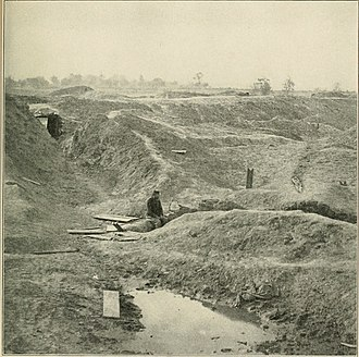Battle of the Crater - Result of the 8,000-lbs. of powder explosion under the Salient, 1865