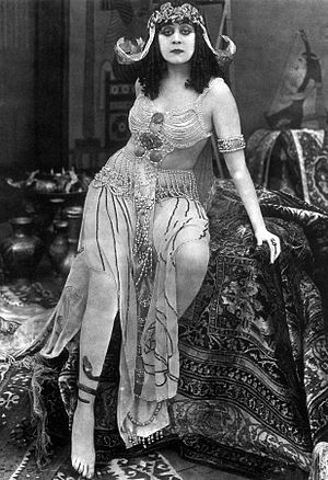 English: Actress Theda Bara in one of her famo...