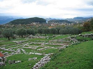 Philip V of Macedon - The ruins of Thermo capital of the Aetolian League, a town which was sacked by the army of Philip V.