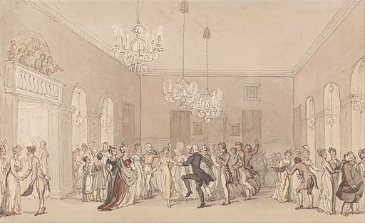 Thomas Rowlandson - A Ball at Scarborough - Google Art Project