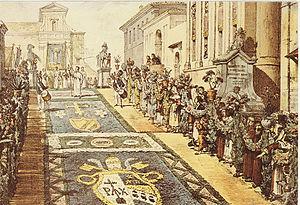 Thomas Un an a Rome Pl XXXIII Infiorata