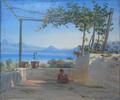Thorald Brendstrup - Scene fra en italiensk loggia - 1850.png