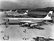 Three Pan Am Boeing 707 awaiting delivery