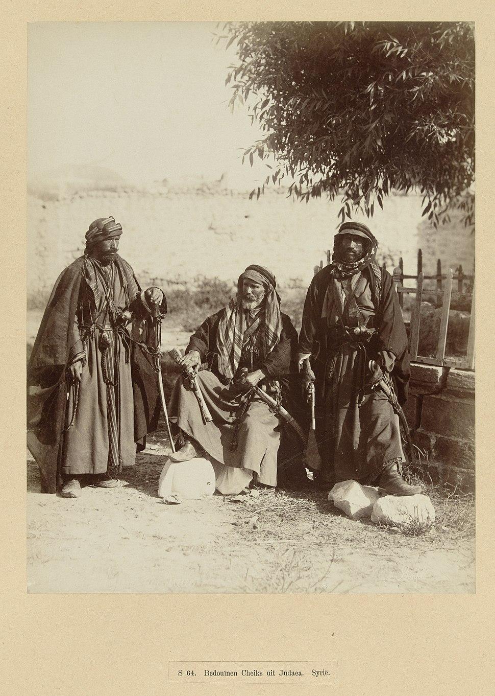 Three bedouins sheikhs, c 1867-1876