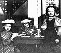 Three girls having tea party at Grace McMonagle's house, probably Seattle, Washington (4476181273).jpg