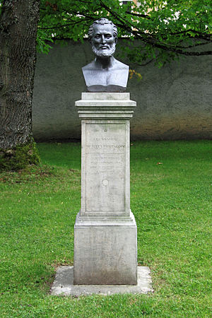 Jules Thurmann - Bust of Jules Thurmann at the Jardin botanique (Porrentruy)