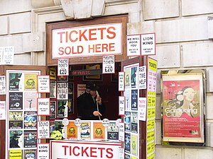 English: Tickets Please! Theatre ticket booth ...