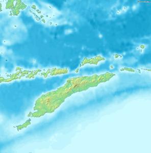 Timor und seine benachbarten Inseln