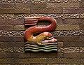 Tito chini, padiglione delle feste di castrocaro, atrio circolare, decorazioni ceramiche 02.JPG