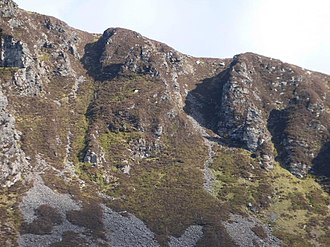 Purple Mountain (Kerry) - Tomies Chimneys, leading to Tomies North Top (or Tomies Rock)