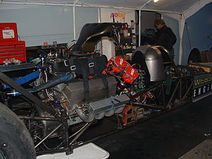 Top Fuel - Engine of a top fuel car