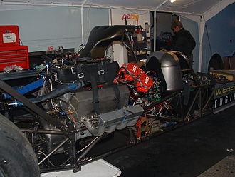 Top Fuel - Engine of a top fuel car
