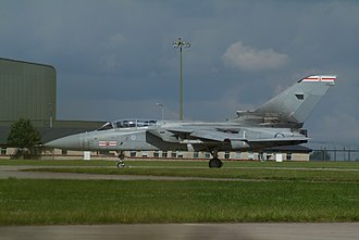 RAF Coningsby - Tornado ADV (F3) ZE785 of No. 41 Squadron in July 2007; 29 Sqn at Coningsby was the RAF's first ADV Tornado squadron in 1987