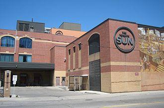 Toronto Sun Building - Southern facade of the Toronto Sun Building, in 2007.