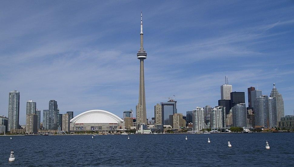 Toronto skyline in September 2008