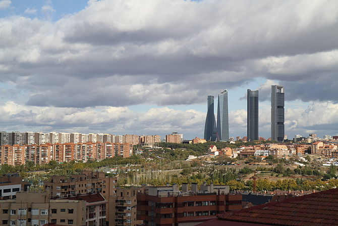 Español: Torres de Madrid.