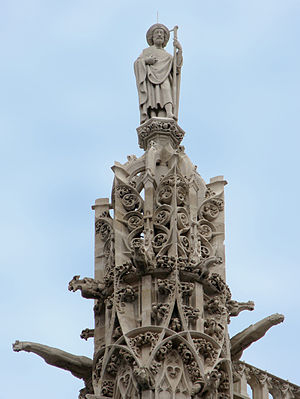 La Tour Saint-Jacques à Paris après restaurati...