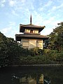 Tower of Zuishoin Temple and moat in Yanagawa, Fukuoka.jpg