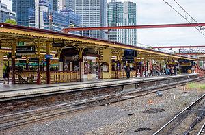 Flinders Street railway station - Track 6 at Flinders Street Station