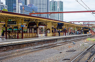 Flinders Street railway station - Track 6 at Flinders Street Station