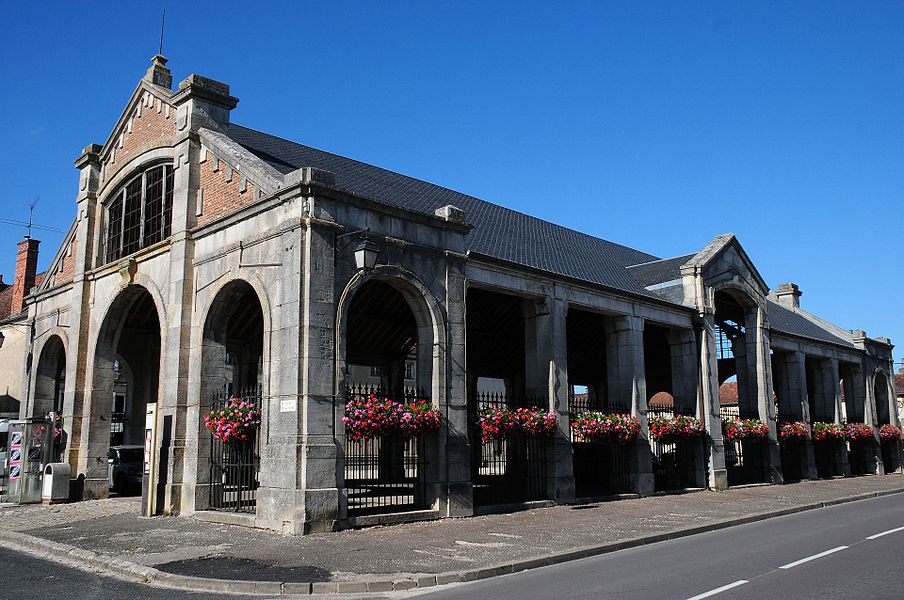 Traditional market hall at Dienville, not longer in use