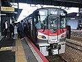 Train for Iwakuni Station at Hatsukaichi Station.jpg