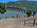 Trenino Verde - Lago di Liscia - Andrea & Zsolti kissing with the viaduct in the back - panoramio.jpg