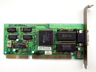 Trident Microsystems - A ISA port, Trident SVGA card with TVGA9000B chip.