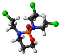Ball-and-stick model of the trofosfamide molecule