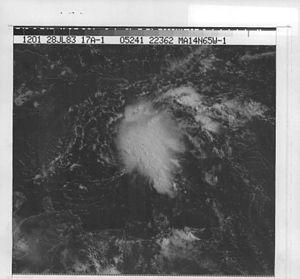 1983 Atlantic hurricane season - Image: Tropical Depression 1 (1983)