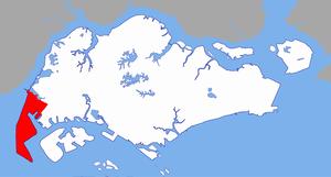 Tuas - Image: Tuas Planning Area locator map