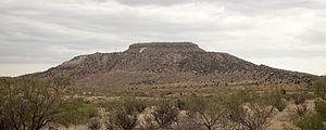Tucumcari Mountain - Mesa Tucumcari viewed from the west.