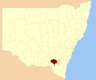 Tumut Shire - Location in New South Wales