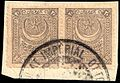 Turkey 1892 consular revenue Sul447 pair.jpg