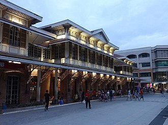 Tutuban Main Station, which was built in 1887, is the main terminal of the Ferrocaril de Manila-Dagupan (now known as the Philippine National Railways). At the present moment, it serves as a shopping center and a public transit hub. Tutuban Center - main station, night side view (Tondo, Manila; 11-10-2019).jpg