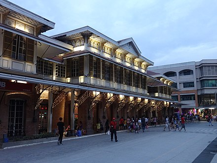 Tutuban Main Station, which was built in 1887, is the main terminal of the Ferrocaril de Manila-Dagupan (now Philippine National Railways). At present, it is now a shopping center and a public transit hub. Tutuban Center - main station, night side view (Tondo, Manila; 11-10-2019).jpg