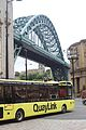 Tyne Bridge and QuayLink bus, Newcastle upon Tyne, 27 July 2011.jpg