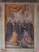 Tyniec - Klasztor - Kapitularz - Fresk 01.jpg