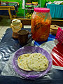 Typical serving of Pupusas in El Salvador.jpg