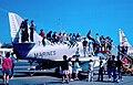 U.S. Marine Corps A-4C Skyhawk with visitors at Naval Air Station Alameda c1963.jpg