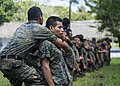 U.S. Marines assigned to a landing attack subsequent operations team conduct a combat conditioning exchange with Guatemalan marines as part of U.S. Marine Corps Martial Arts Program training during Southern 140819-N-XQ474-072.jpg