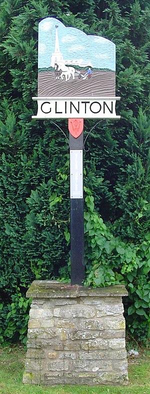 Glinton, Cambridgeshire - Signpost in Glinton