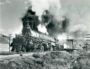 """Big Boy"" 4019 in Echo Canyon, Utah"