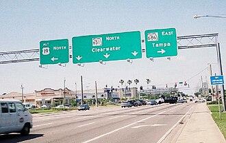 U.S. Route 19 Alternate (Florida) - Image: US Alt 19 FL 651 686(Overhead)